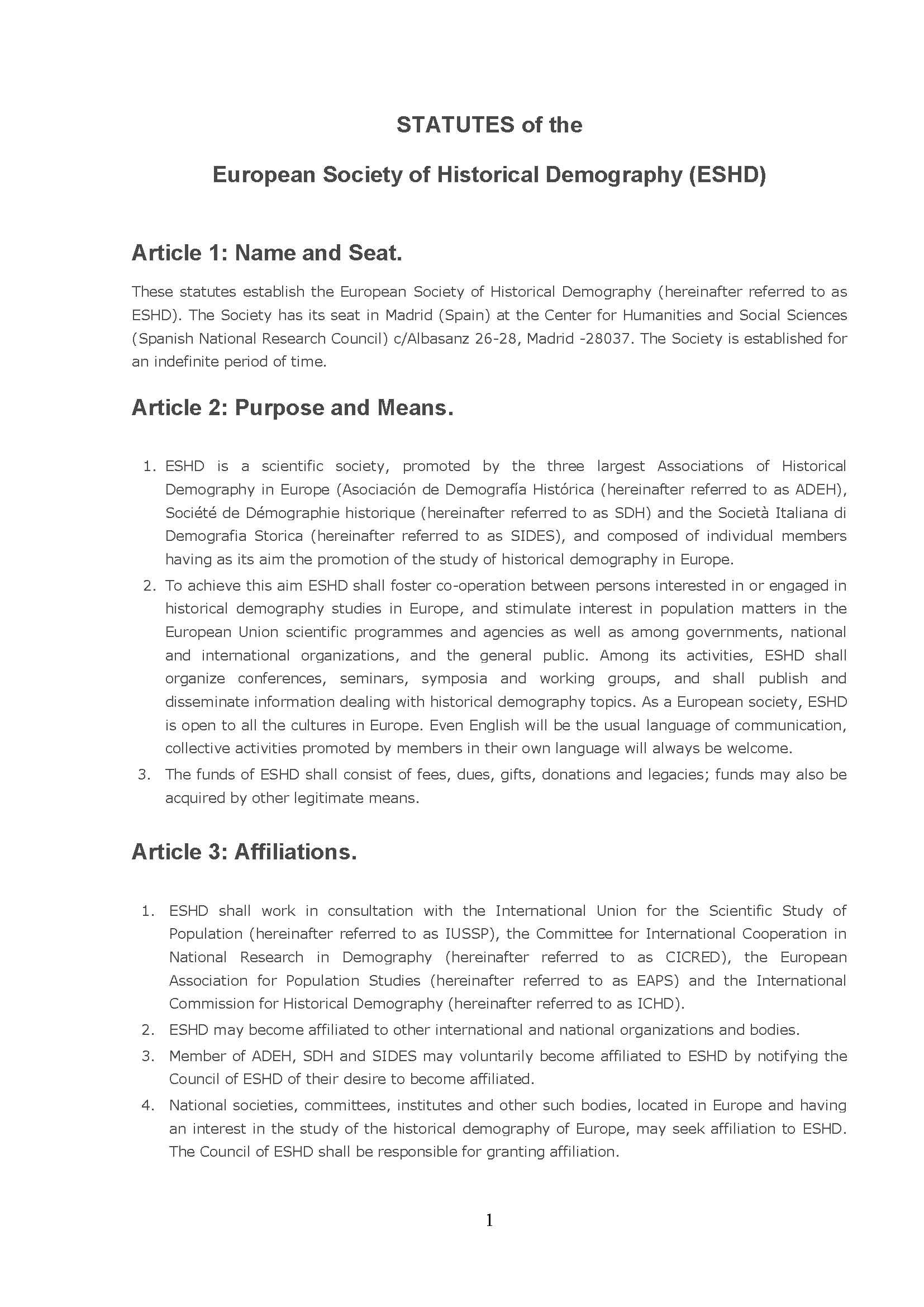 STATUTES 1